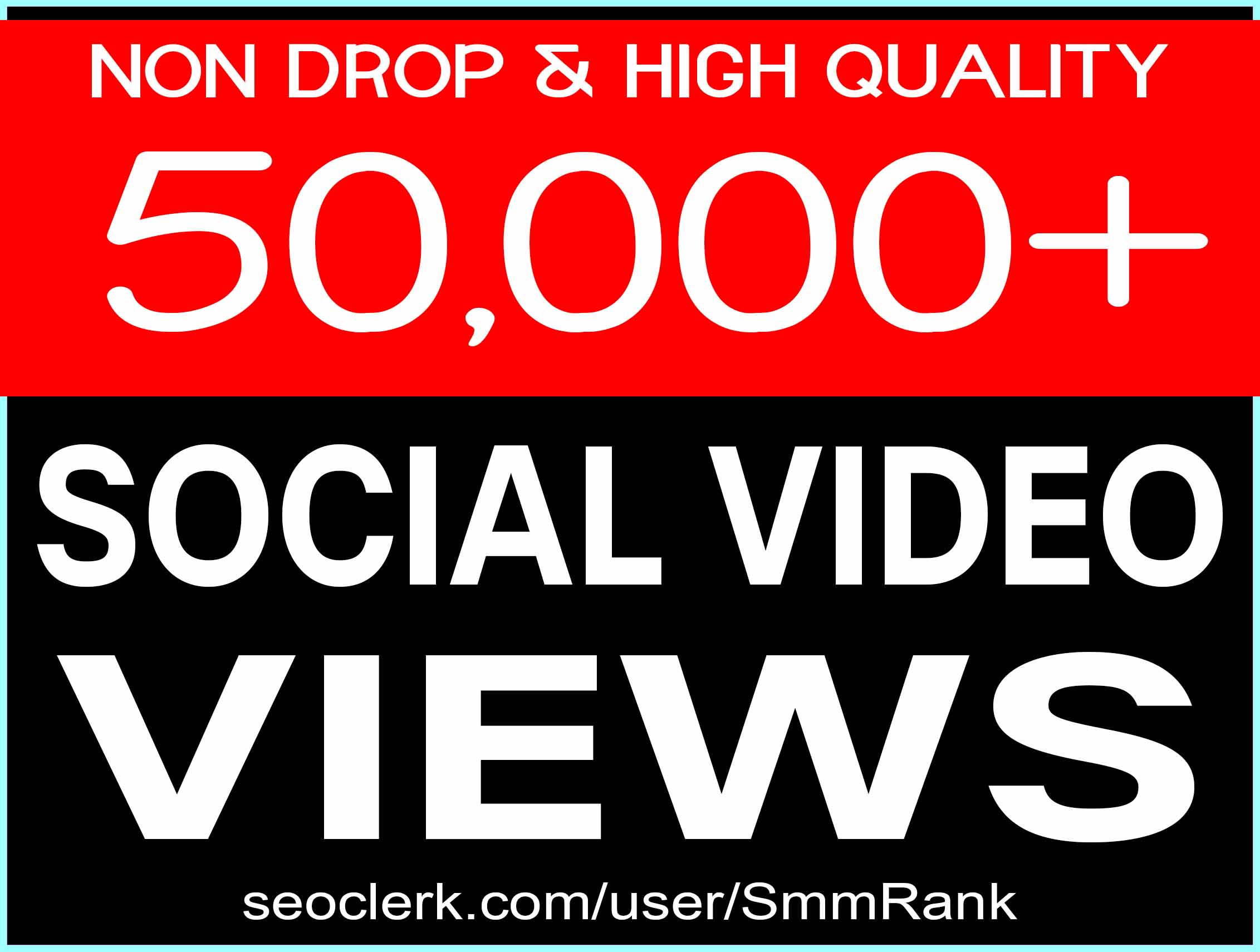 50,000+ SOCIAL VIDEO VIEWS SUPER FAST AND HIGH QUALITY WITH NON DROP GUARANTEED