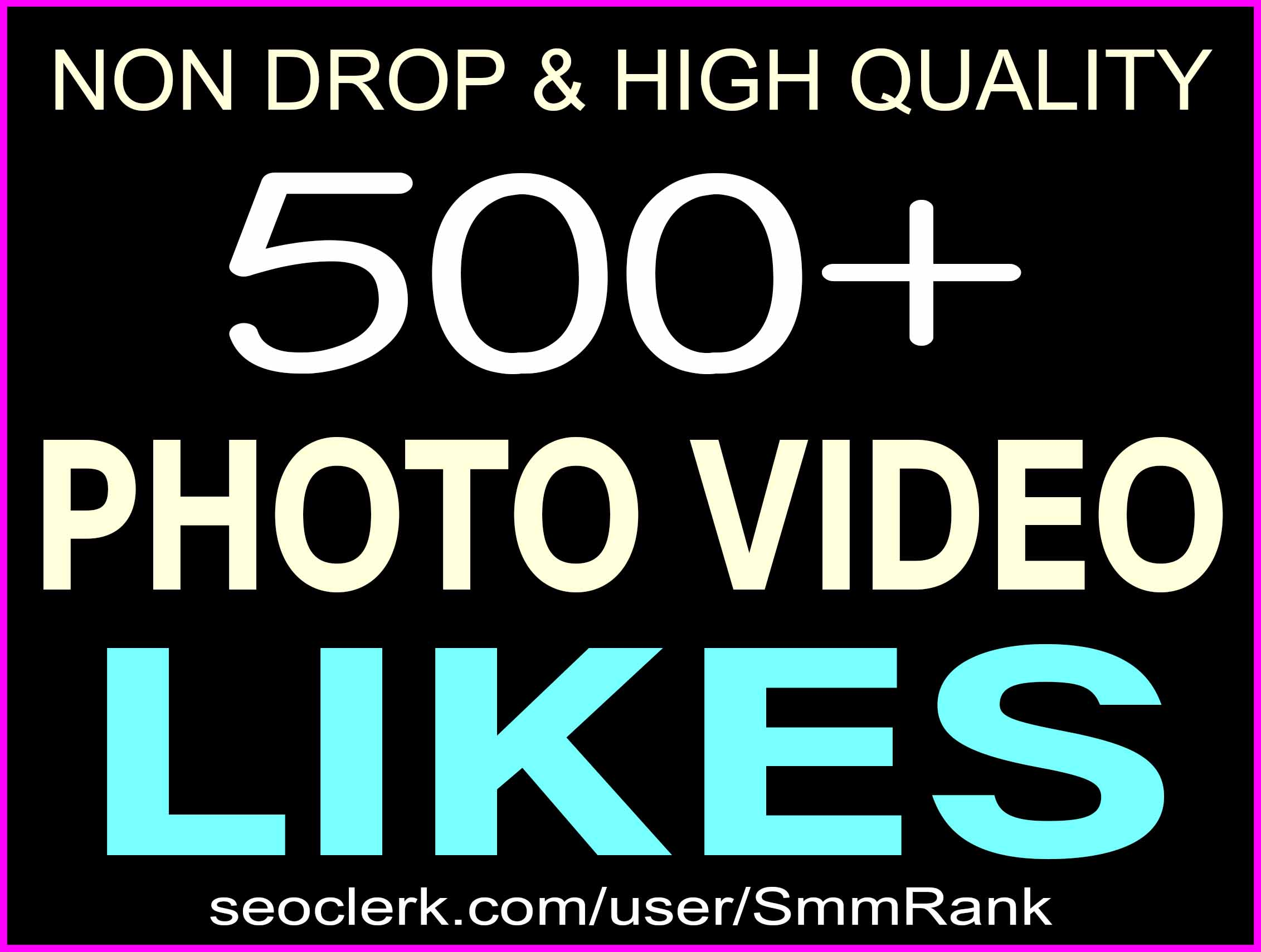 ADD 500+ SOCIAL PICTURE OR VIDEO PROMOTION NON DROP AND SUPER FAST