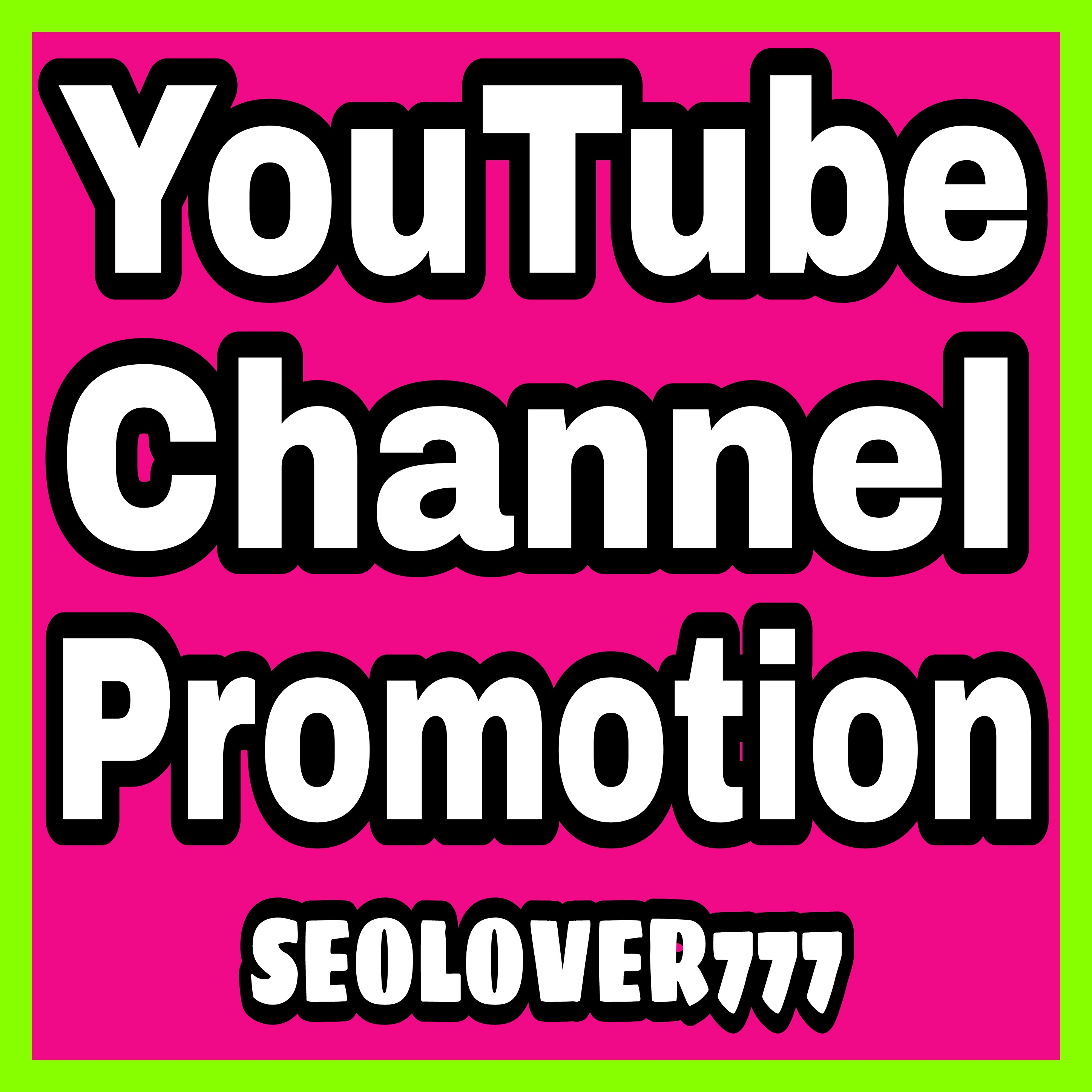 YouTube organic promotion with real, fast & high quality