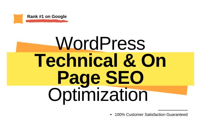 Wordpress On Page SEO and Technical Optimization