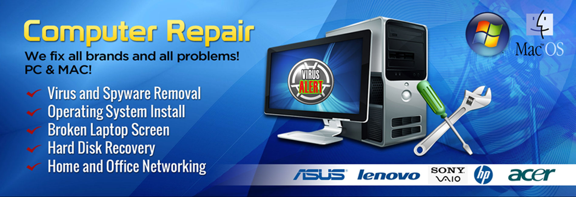 I will repair or remove virus, fix your windows pc, computer, laptop