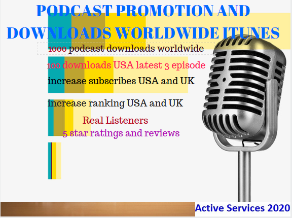 promote and advertise your podcast you get many downloads, rating, sub