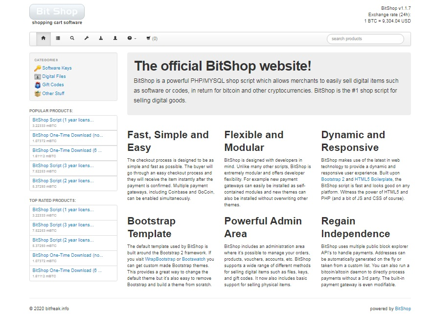 Build your Own Bitcoin Shopping Site PHP Script with Admin Panel