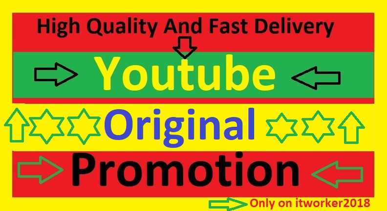 Manually YouTube Videos Promotion By Would Web User