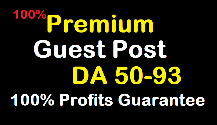 I will do high quality premium guest post da 50 to 93 real sites