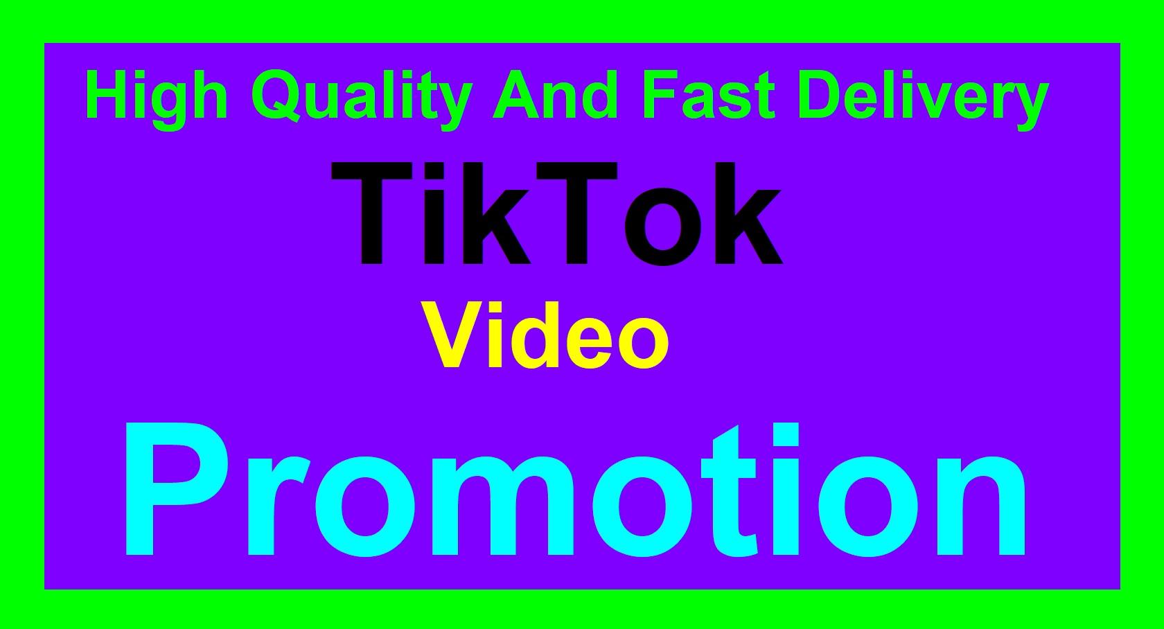 Very Retention Tiktok Video Promotion and Social Media Marketing