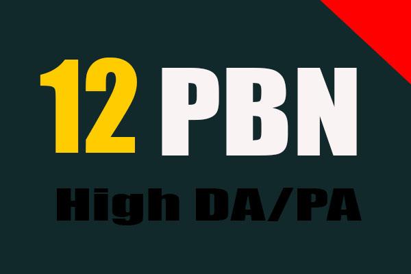 i will do 12 Homepage PBN DA 30 to 25 Dofollow Manually
