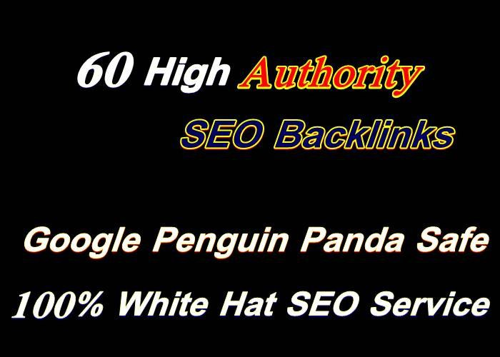 Create high quality 60 backlinks SEO link building for google top ranking