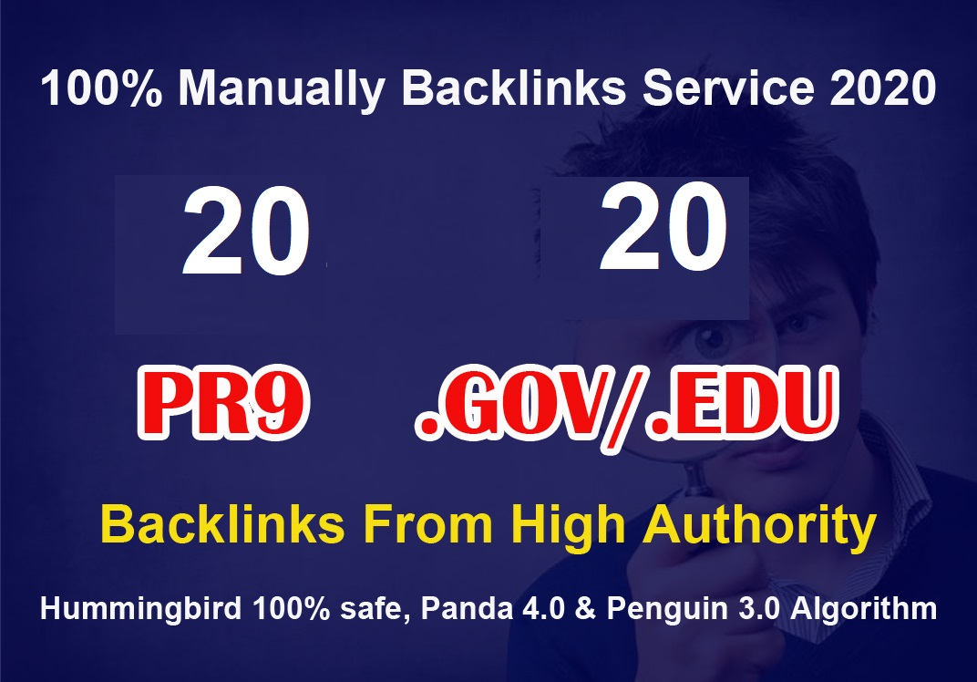 Backlinks - Fire Your Google Ranking 20 Pr9 + 20 Edu - Gov High Pr SEO Authority
