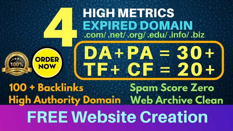 I will find top 3 expired domain with high metrics