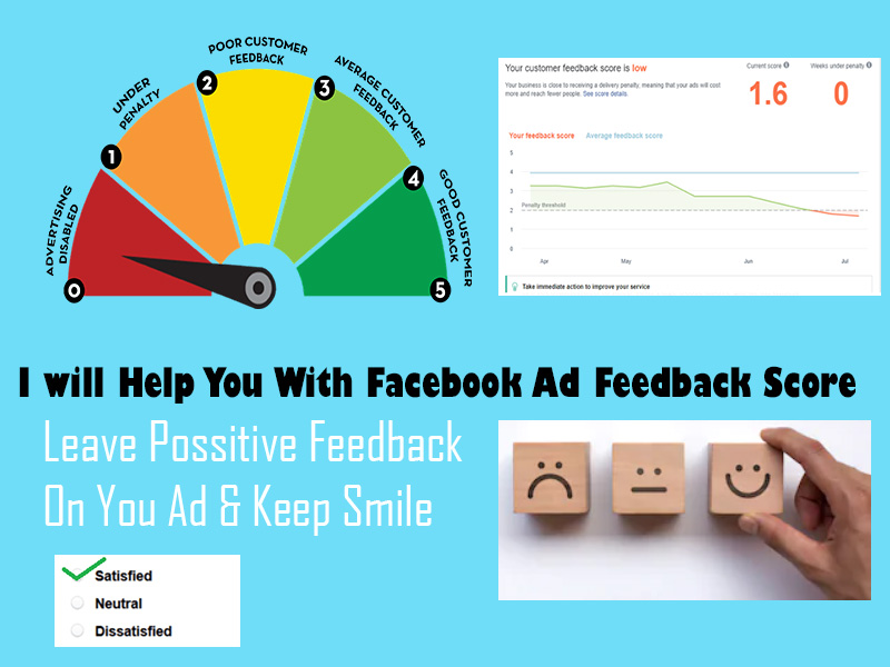 I Will Leave Positive Facebook Ad Feedback For Increasing Your Ad Score