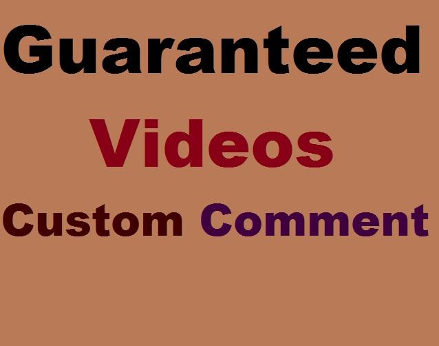Guaranteed USA & Brazil Custom Comments