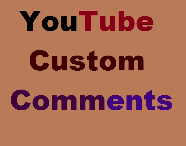 Custom Comments And Video Promotions Active User Super Fast.