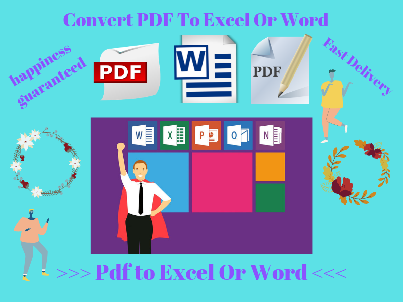Professional Manually Convert PDF To Excel Or Word