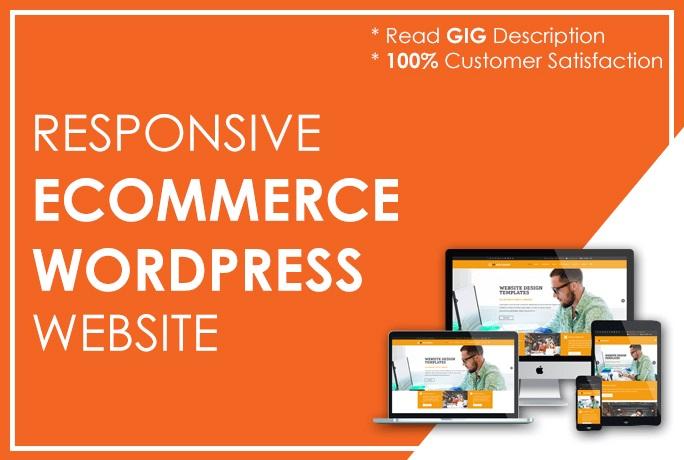 will design responsive ecommerce wordpress website with woocommerce