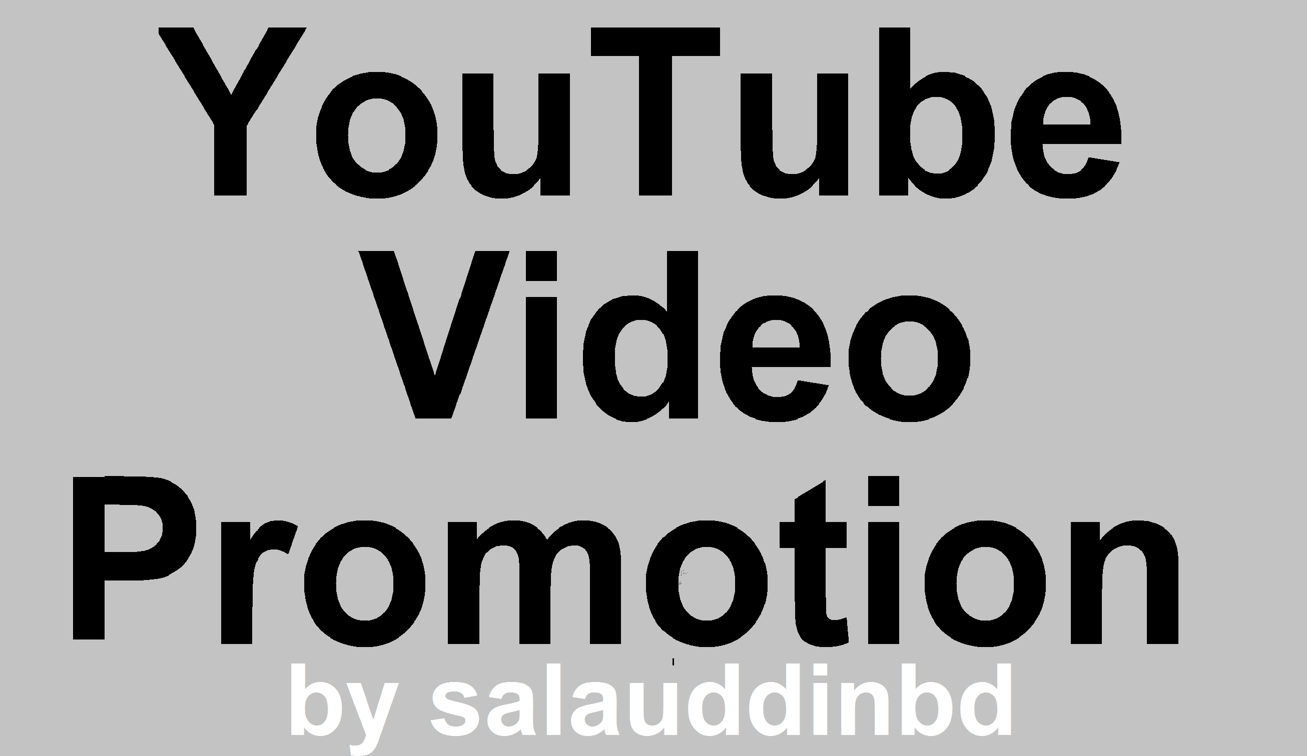 I will Do YouTube High Quality Promotion Marketing