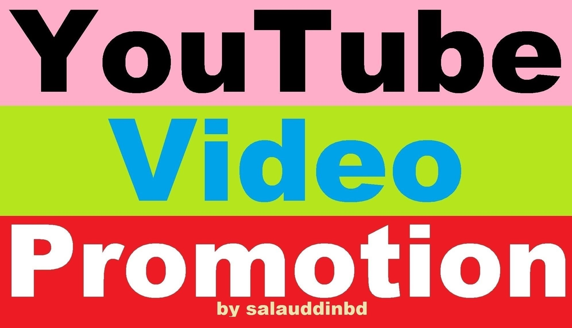Get High Quality YouTube Video And Social Media Promotion Marketing