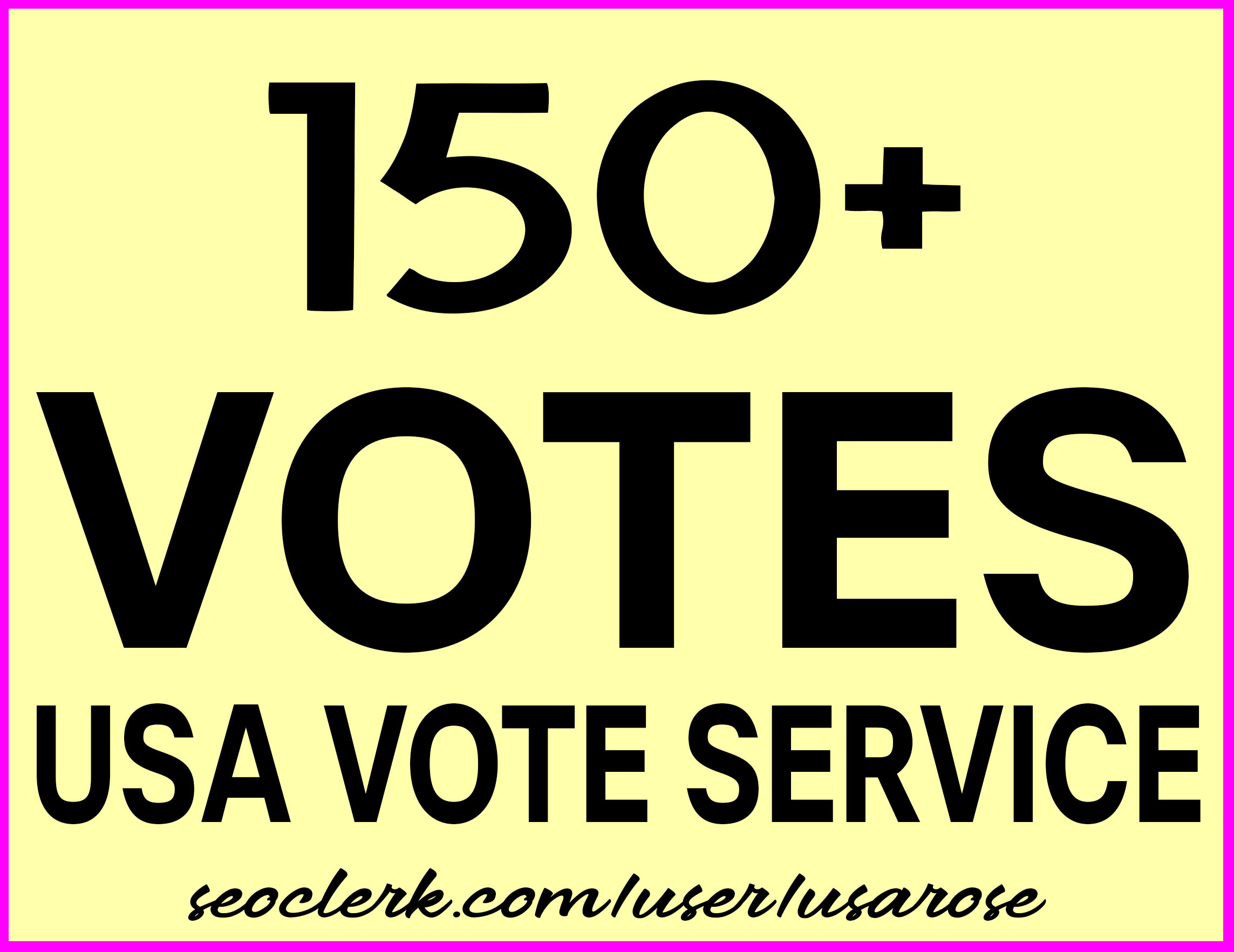 Instant 150+ Real Votes For Any Poll Online Voting Contest