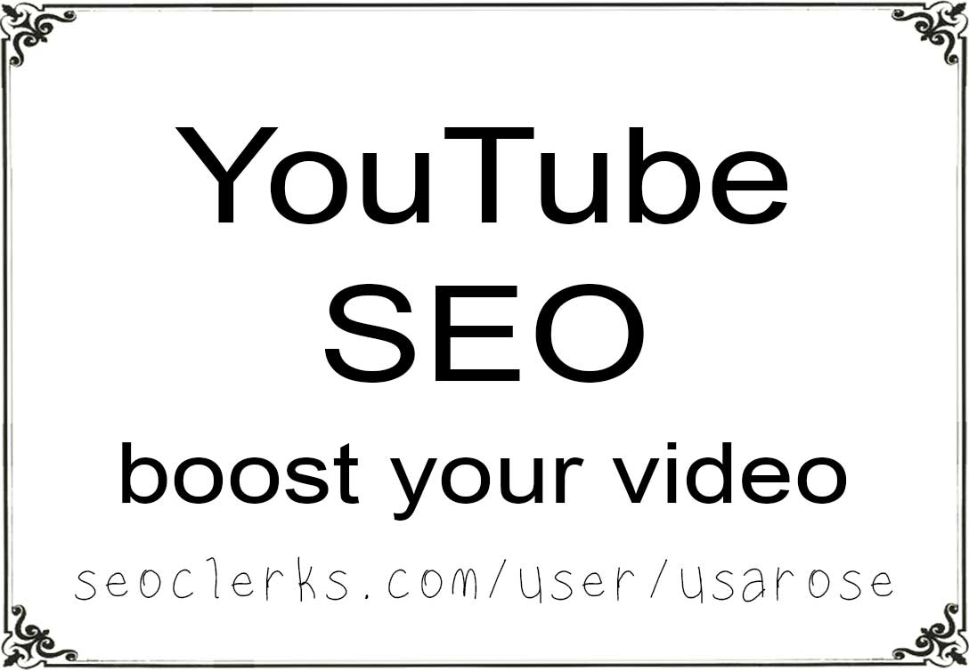 SEO,  Boost YouTube video rank,  50,000 Embeds,  20 Backlinks + Social Signals,  400 Search Engine