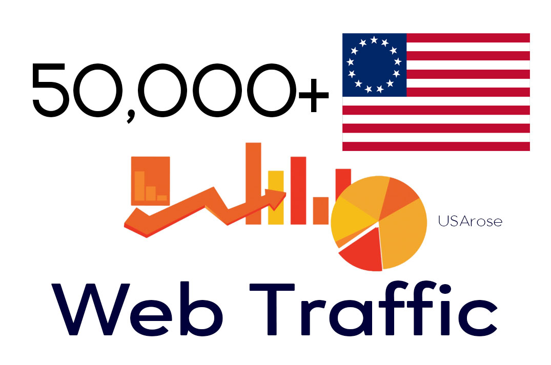 50,000+ Web Traffic To Your Website,  Real Human USA Traffic