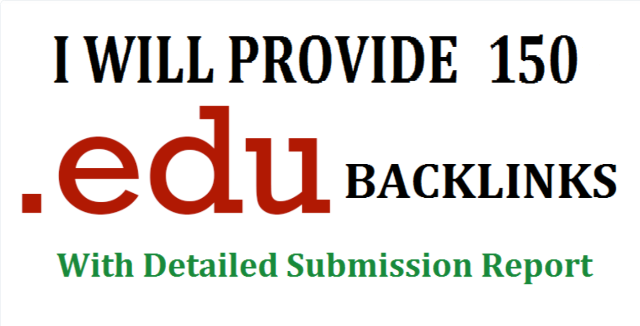 Get 20 - 150 .EDU .GOV high authority backlinks
