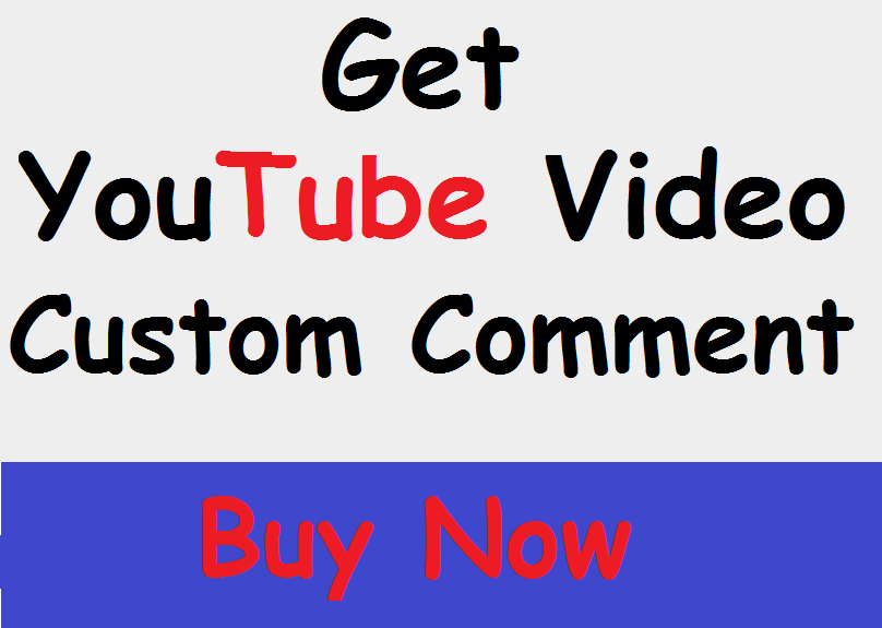 I will provite You Real Best Youtube Custom Comments Promotion