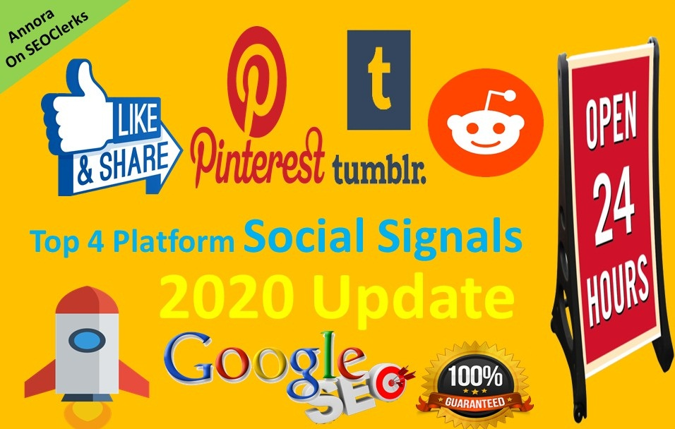 TOP 4 Platform Social Media Best Sites 5,000+ Mixed Social Signals Help To Increase Website SEO
