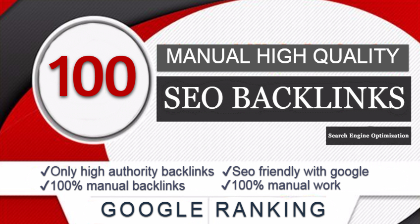 Do Manualy 100 High Quality Seo Backlinks for your website Google Ranking