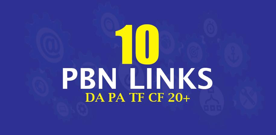 Create 10 Permanent High Da Pa Tf Cf 20+ Pbn Seo Backlinks