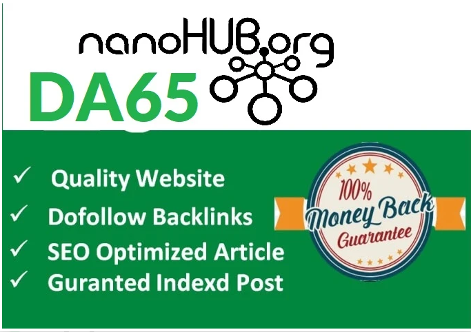 Write & Publish Guest Post on Nanohub - Nanohub. org High quality Backlinks