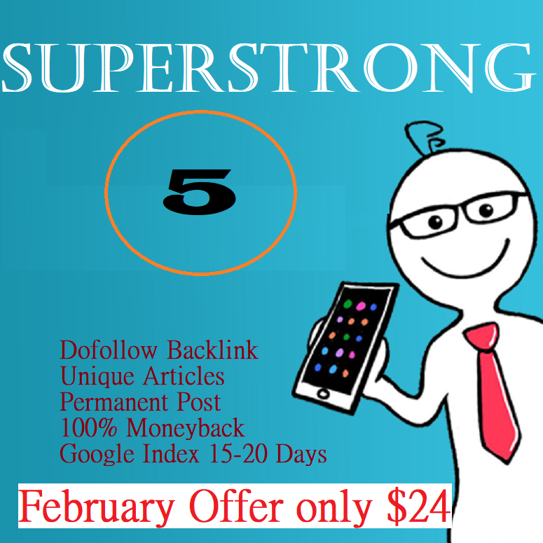 Superstrong DA60+ Write and Publish High Quality Backlinks on 5 Do-foll0w Sites
