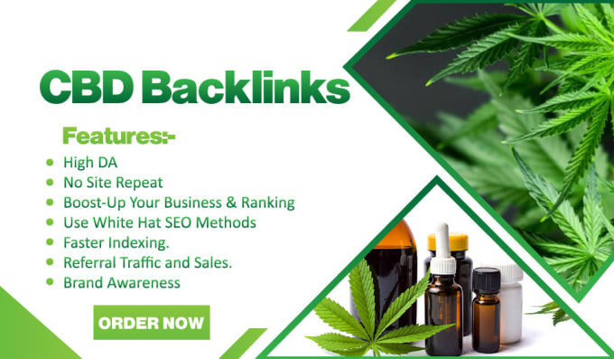 I will build 10 cbd links,  backlinks on cbd sites SEO in 50 USD