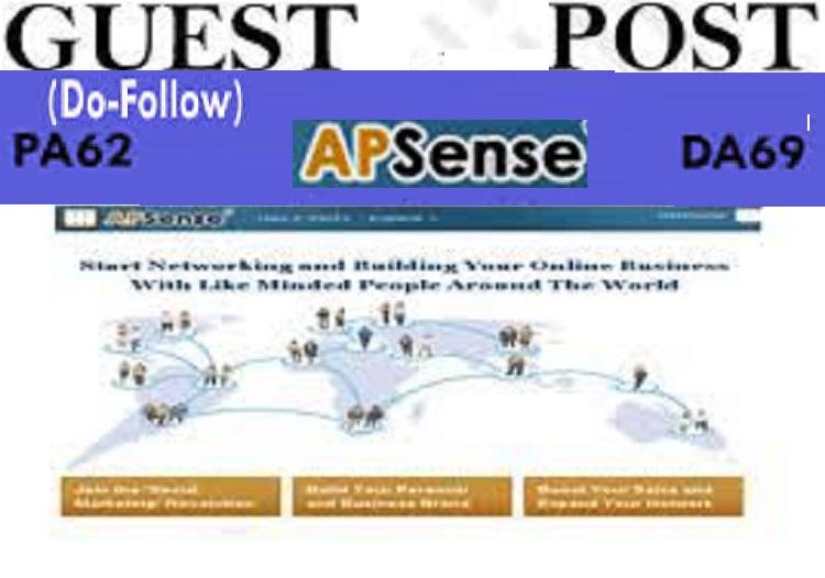 Publish Guest post ON apsense. com DA 69