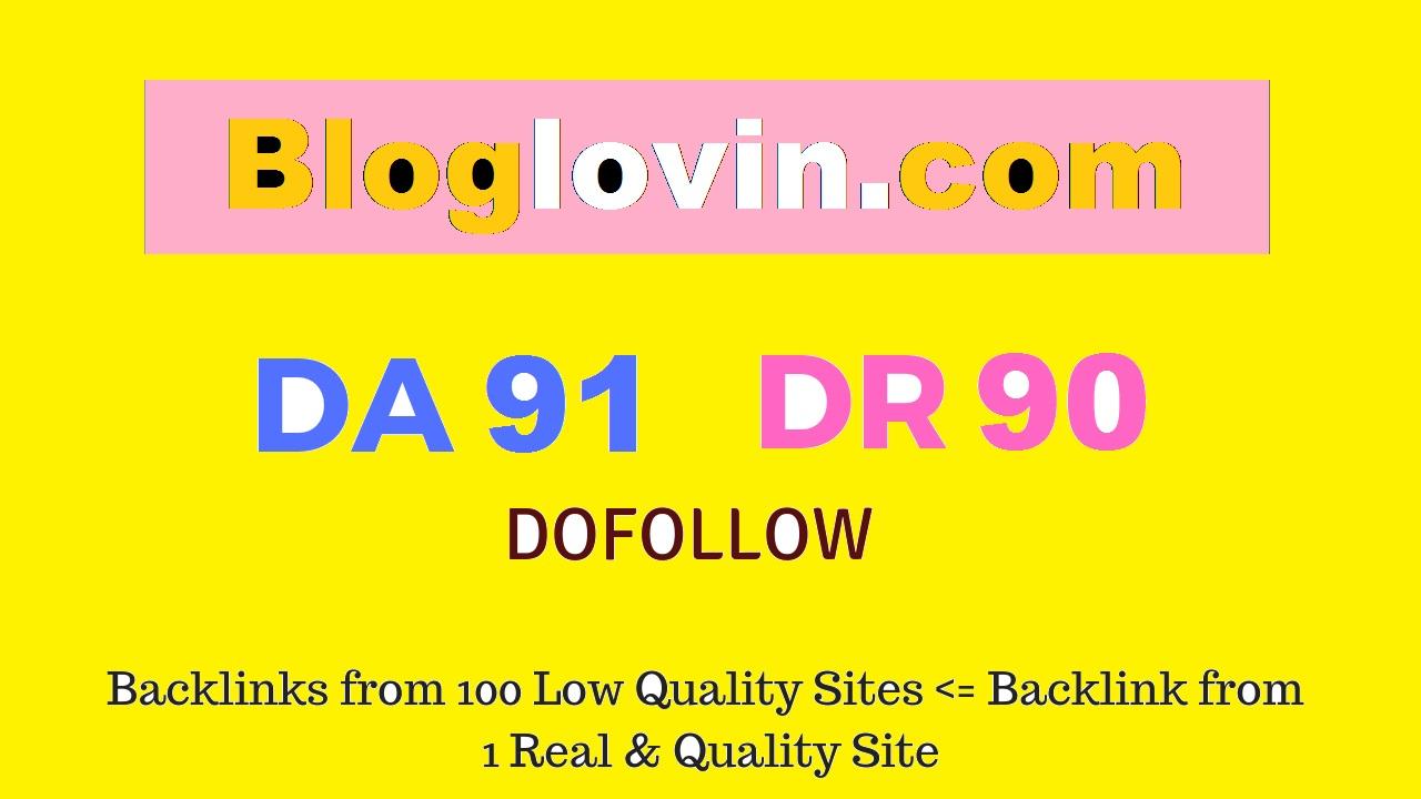 Publish Guest Post on Bloglovin. com DA91