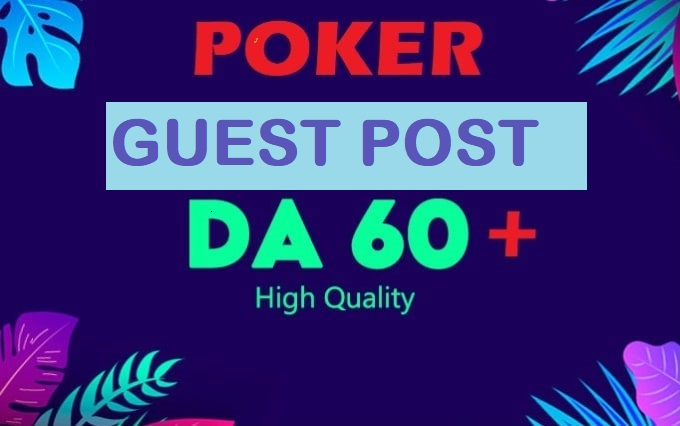 I will publish your guest post on my poker