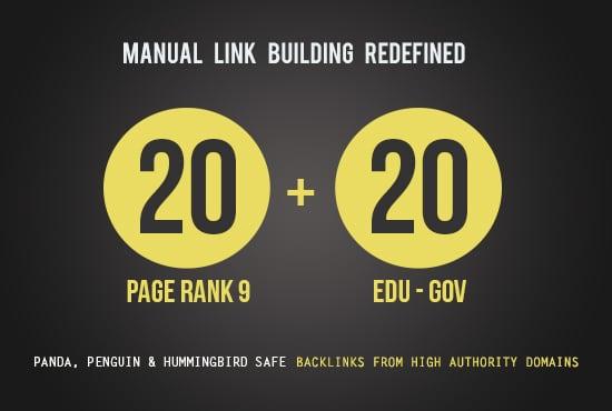 20 Pr9 Authority Backlinks + 20 Edu - Gov High Da Backlinks - Fire Your Google Ranking