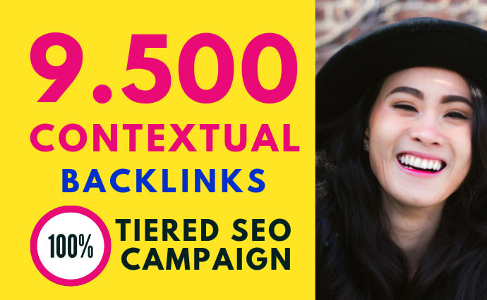 I will do 9500 contextual backlinks for SEO tier link building