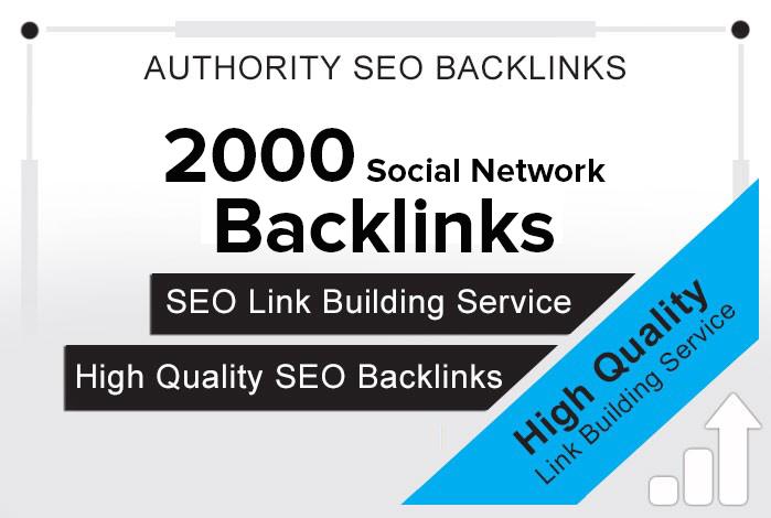 give 2000 Social Network backlinks