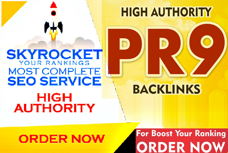 I will set up 20 seo backlinks from PR9 high authority domains