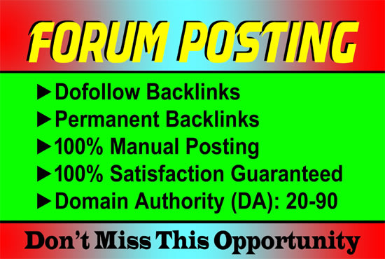 I will do manual blog comments on high trusted blogs forums