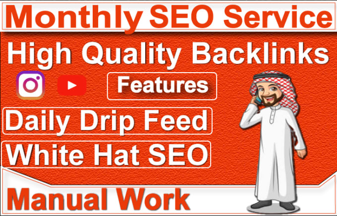Drip Feed Your Website With White Hat SEO Backlinks Service For 30 days