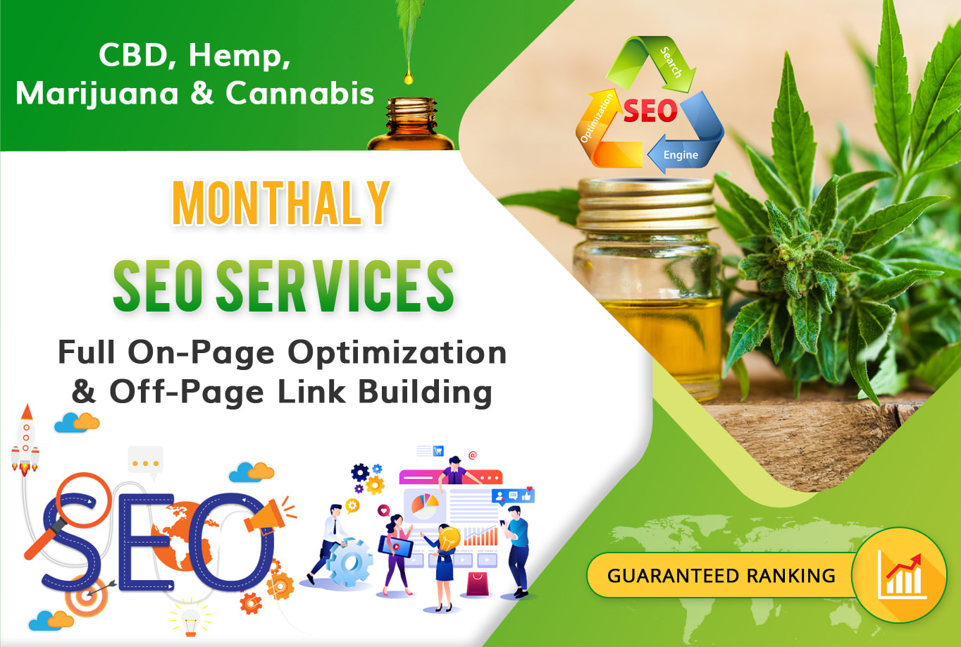 I Will Do White Hat SEO For CBD Hemps Marijuana And Cannabis Site