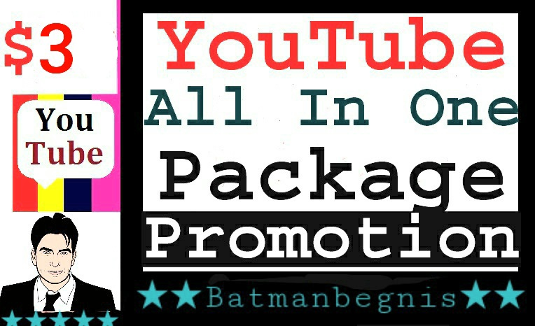 Youtube All In One Promotion Package Service Completed
