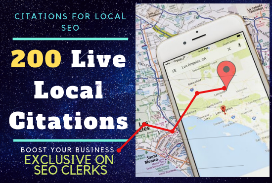 200 Live Citations for Local SEO