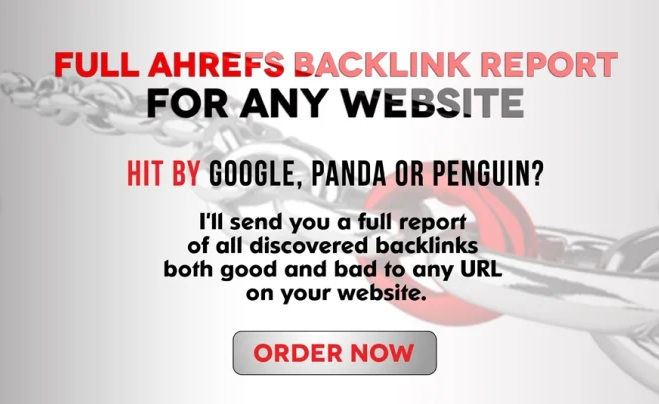 I will give you a full ahrefs reports for 10 websites