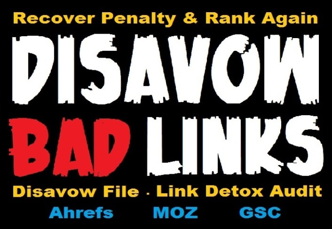 I will disavow spammy or toxic backlinks to your website