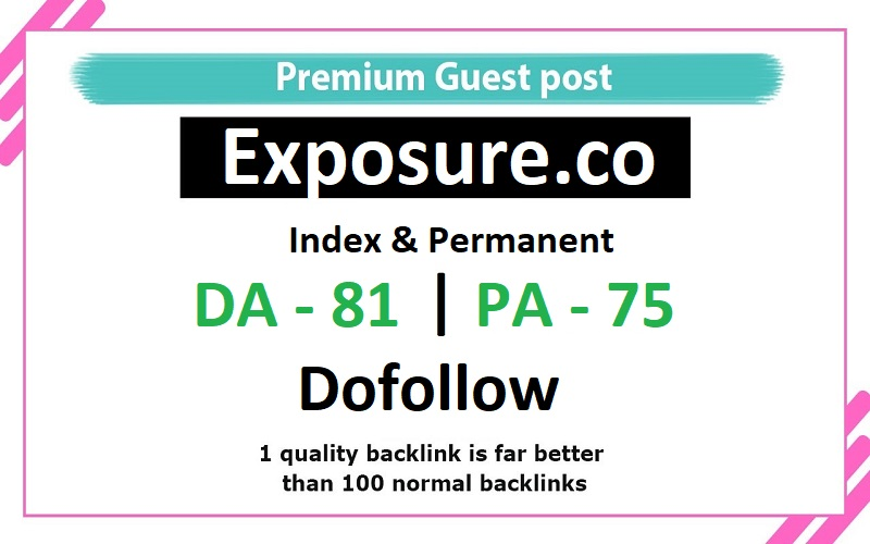 Add a guest post on exposure. co da- 81