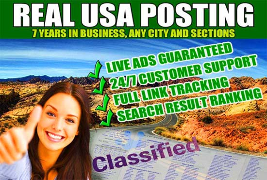 Craigslist live ad posting with live guarantee in Top USA Site