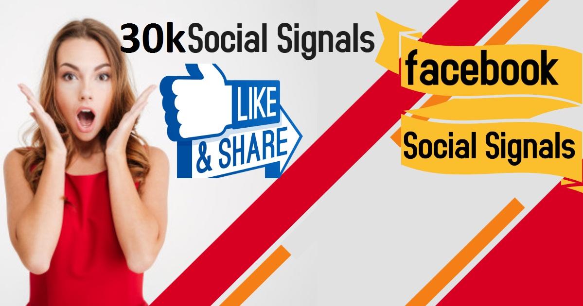 30,000 Social Signals Come From Top 1 Social Media Sites