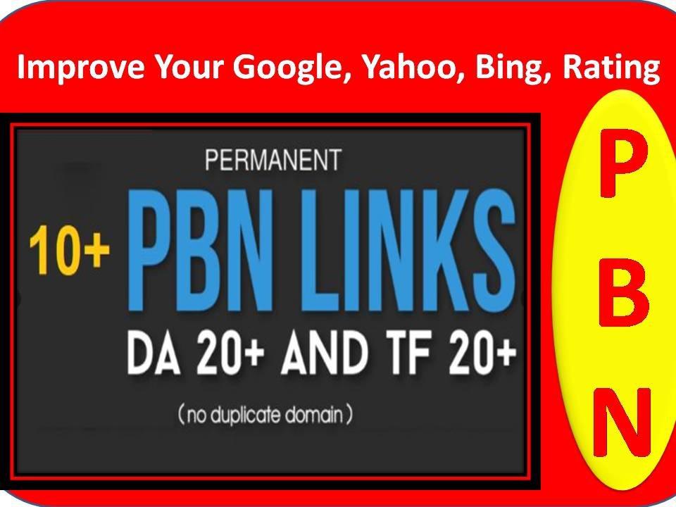 Improve Your Google,  Yahoo,  Bing,  Rating with 10+PBN Manual Homepage and Do-follow Backlinks